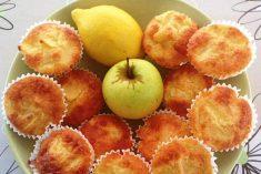 Bolinhos de Limão com pedaços de Maça