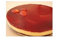 Brownie Cheesecake de Morango