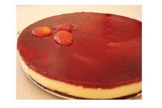 Brownie Cheesecake de Morango