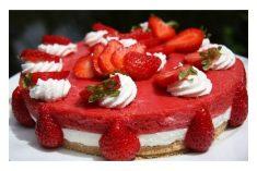 Cheesecake com Espuma de Morangos