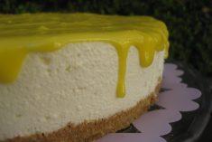 Cheesecake de Lima-Limão com Curd de Limão