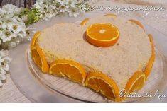 Semi-frio de laranja com bolacha