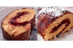 Torta Recheada com Compota de Morango