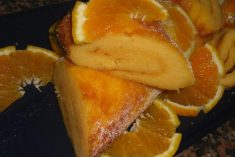 Torta doce de batata e laranja