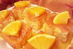 Bolo de laranja e noz moscada