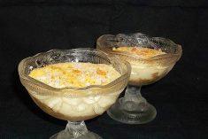 Leite creme com coco e laranja