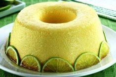 Pudim fácil de limão