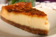 Tarte de queijo fundido
