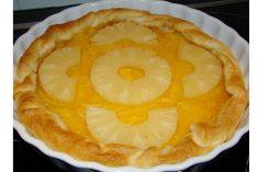 Tarte de ananás com apenas 3 ingredientes, simples rápido e delicioso