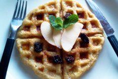 Waffles de Aveia e Maçã (sem açúcar ou laticínios)