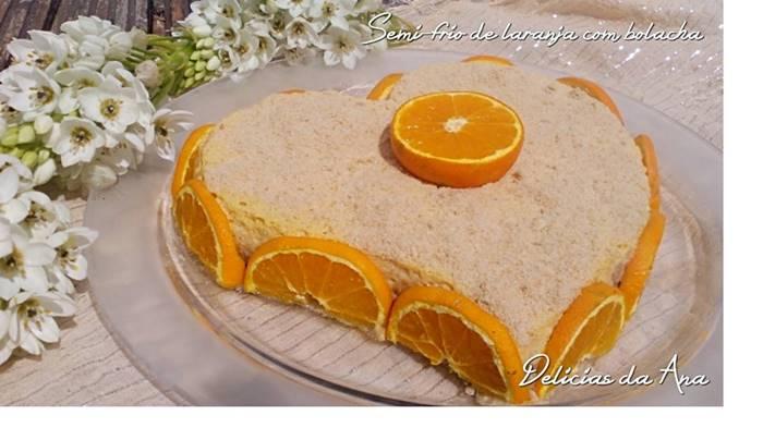 Photo of Semi-frio de laranja com bolacha