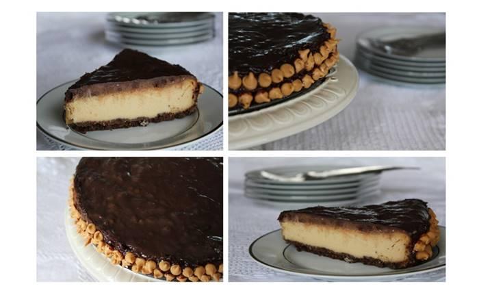 Photo of Cheesecake de chocolate e manteiga de amendoim
