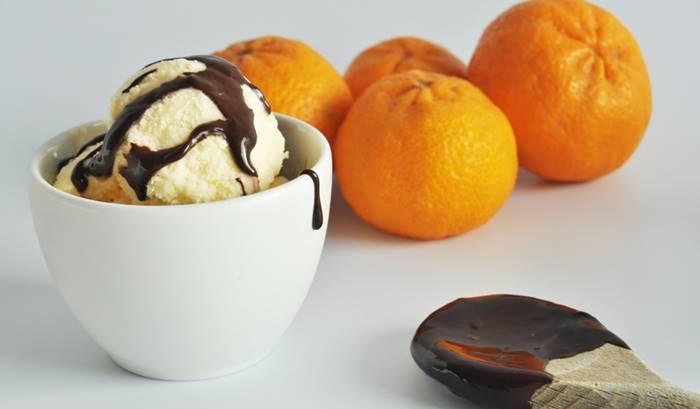 Photo of Gelado de Tangerina com Chocolate
