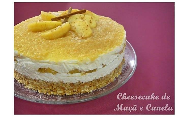Photo of Cheesecake de Maçã e Canela