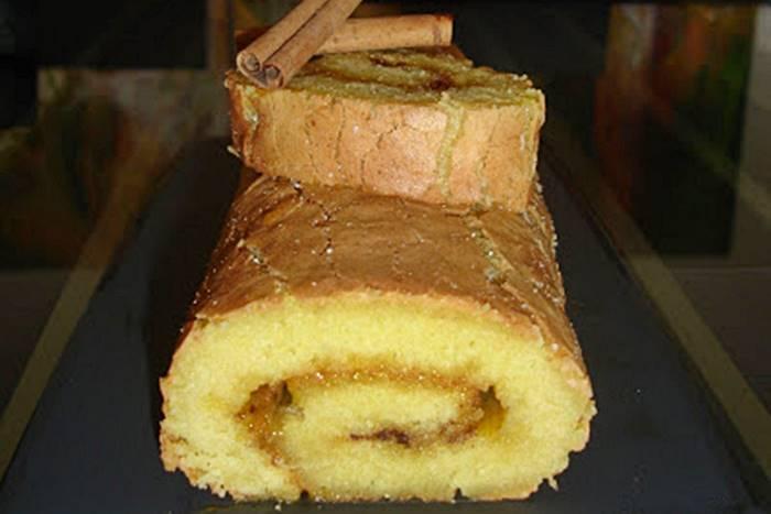 Photo of Torta de Amêndoa com doce de ovos e canela