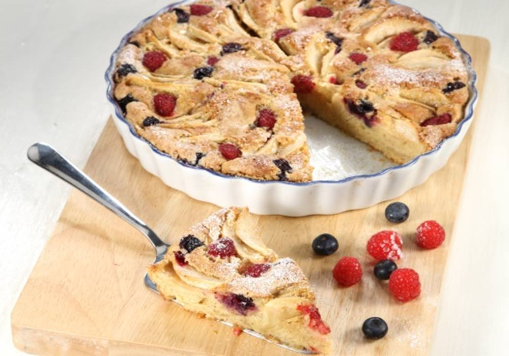 Photo of Tarte de maçã com frutos vermelhos